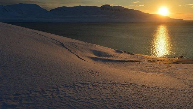Закат на архипелаге Шпицберген
