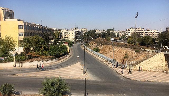 Район гуманитарного коридора Алеппо в Сирии