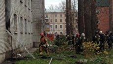 Пожар в жилом доме в Санкт-Петербурге