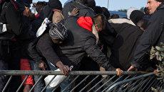 Ситуация в лагере беженцев в Кале во Франции