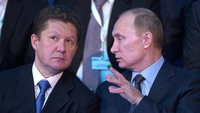 А.Миллер и В.Путин. Архивное фото