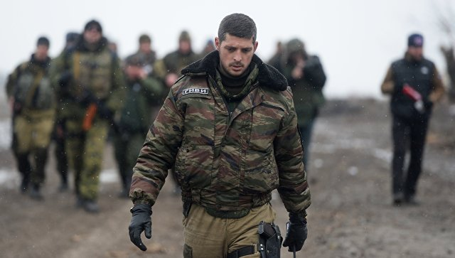 Ополченец Донецкой народной республики (ДНР) с позывным Гиви. Архивное фото