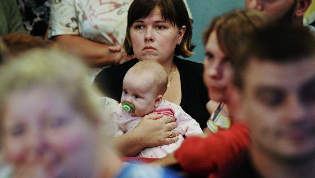 Пункт размещения украинских беженцев. Архивное фото