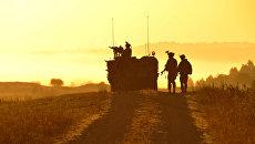 Американские военные во время учений в Германии