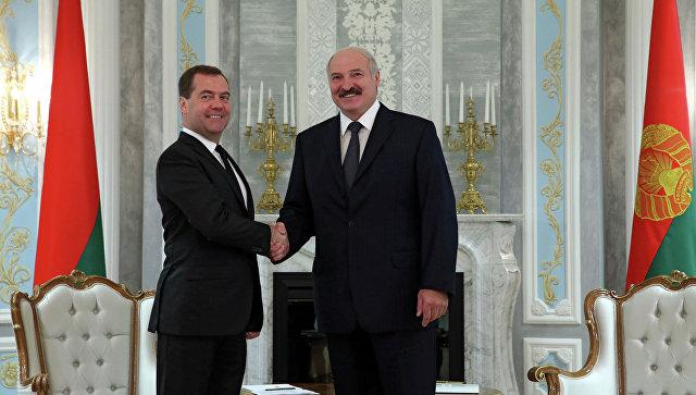 Лукашенко иМедведев встретились вМинске