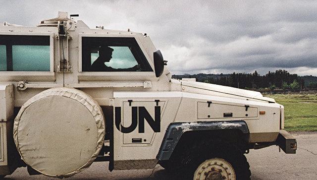 Машина миротворцев ООН, архивное фото