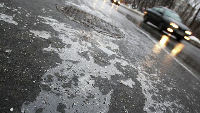 В Москве из-за обледенения дорог число ДТП увеличилось в два раза