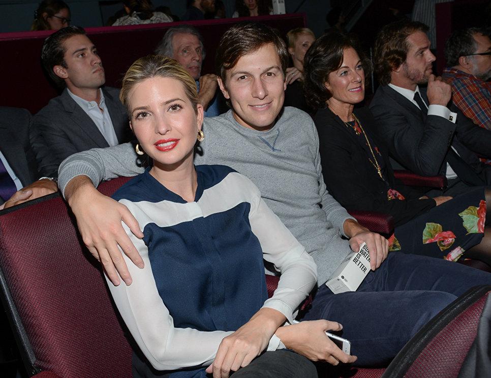Иванка Трамп и ее муж Джаред Кушнер на специальном показе фильма Ярость в Нью-Йорке, США. 14 октября 2014