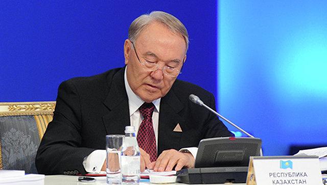 Президент Казахстана Нурсултан Назарбаев на заседании Высшего Евразийского экономического совета в Астане. Архив