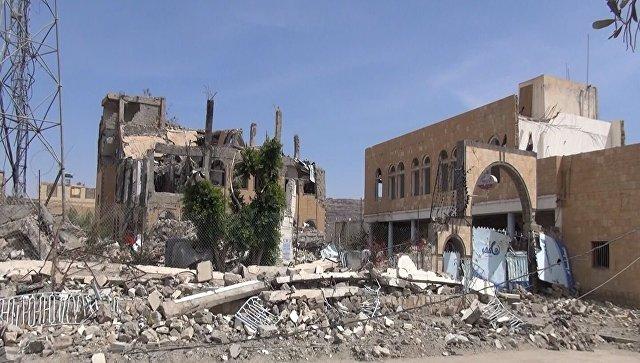 Разрушения в городе Саада на северо-востоке Йемена