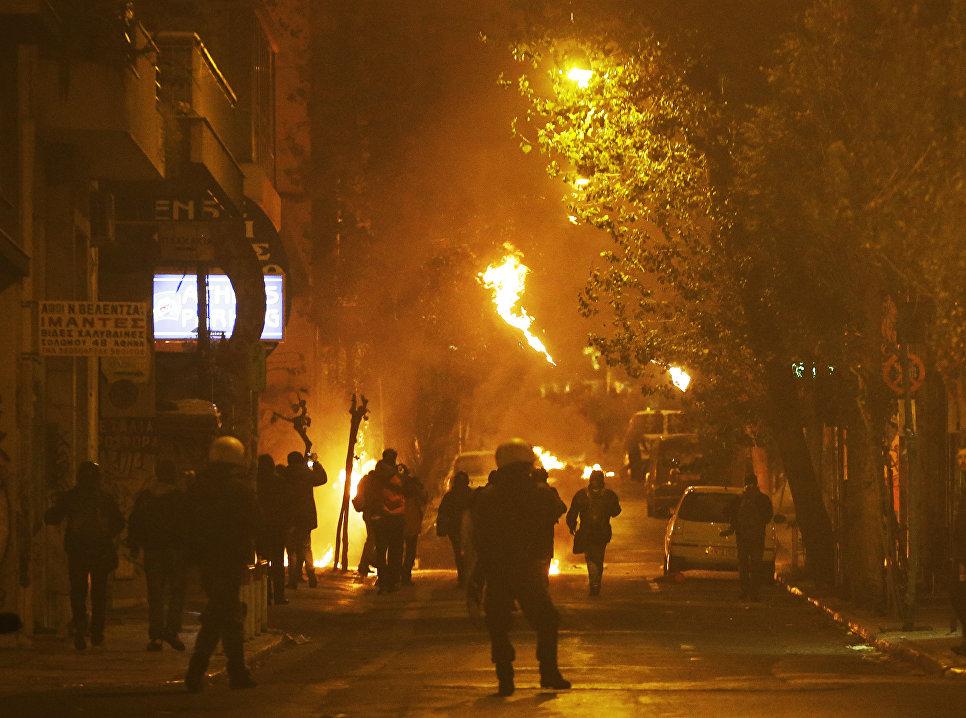Беспорядки в Афинах против визита президента США Барака Обамы