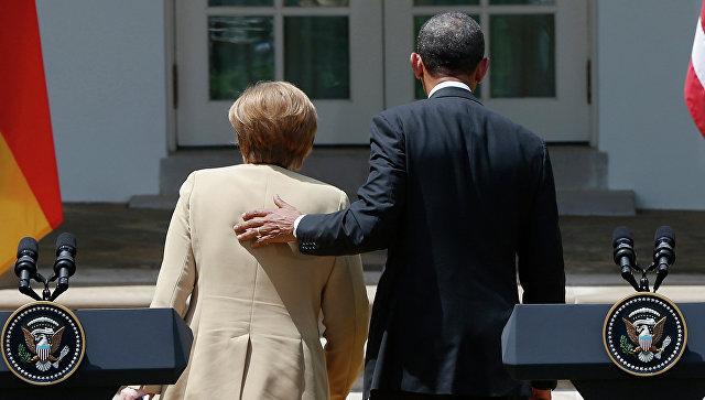 Канцлер Германии Ангела Меркель и Президент Соединенных Штатов Америки Барак Обама. Архивное фото