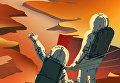 """Постер NASA из серии """"Марс нуждается в вас!"""""""