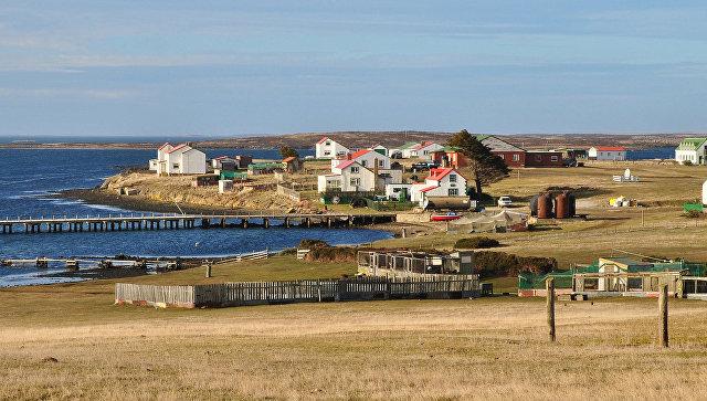Вид на Гуз-Грин, Фолклендские острова