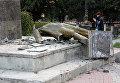 Разрушенный памятник Владимиру Ленину в Судаке