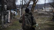 Ополченец в Луганской области. Архивное фото