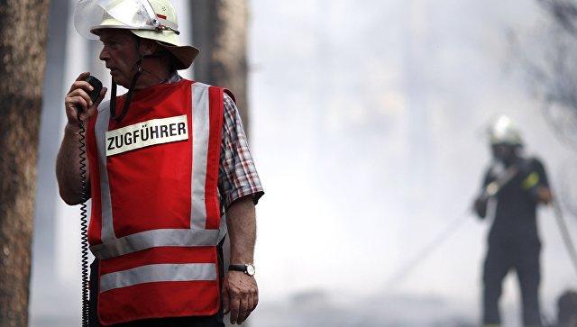 Немецкие пожарные за работой