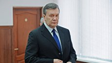 Бывший президент Украины Виктор Янукович в Ростовском областном суде. Архивное фото