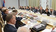 Дмитрий Рогозин проводит первое заседание координационного совета ветеранских организаций. 28 ноября 2016