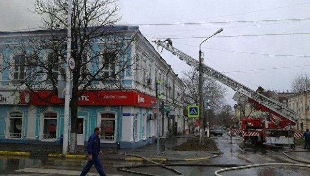 ВНовочеркасске полыхает городская поликлиника №1