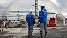 Новое укрытие над четвертым энергоблоком Чернобыльской АЭС. 29 ноября 2016