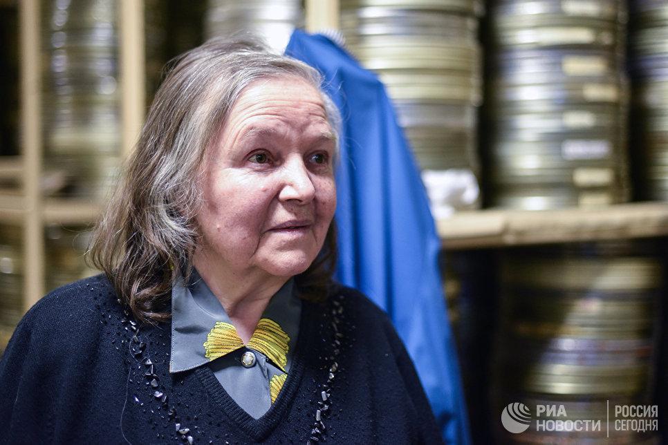 Выпускающий технолог киностудии Союзмультфильм Марифе Ружанская
