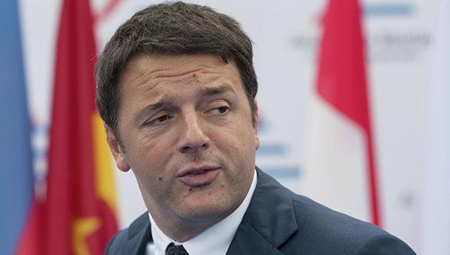 Председатель Совета министров Итальянской Республики Маттео Ренци, архивное фото