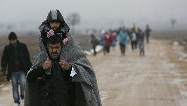 Мигранты около границы Сербии