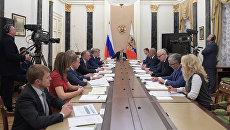 Президент РФ Владимир Путин во время заседания совета Агентства стратегических инициатив в Кремле. 8 декабря 2016
