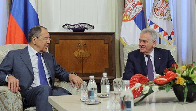 Лавров встретится вБелграде с управлением Сербии