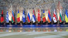 Флаги стран-участниц Организации черноморского экономического сотрудничества. Архивное фото