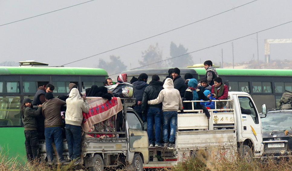 Эвакуация вооруженных повстанцев из восточного Алеппо