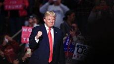 Избранный президент США Дональд Трамп на встрече с избирателями в городе Херши (штат Пенсильвания) в рамках тура the USA Thank You Tour