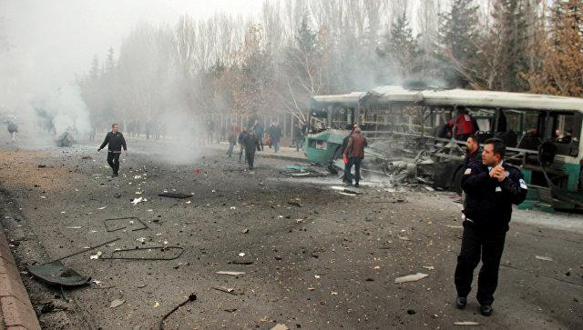 ВТурции взорван автобус своеннослужащими