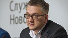 Адвокат экс-губернатора Кировской области Никиты Белых Андрей Грохотов на пресс-конференции в Москве. 23 декабря 2016
