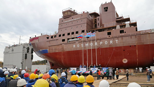 Новый дизель-электрический ледокол проекта «Новороссийск» представили вПетербурге