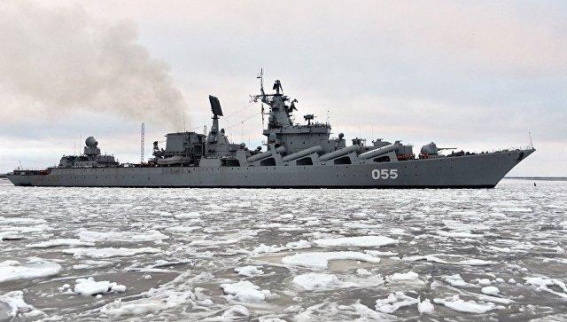 Центр судоремонта Звездочка завершил заводской ремонт ракетного крейсера Маршал Устинов . Декабрь 2016