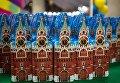 Подарки для детей, пришедших на новогоднее представление на Главной сцене в Государственном Кремлевском дворце в Москве