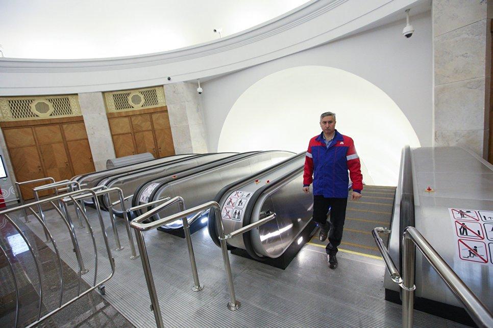 Открытие вестибюля станции метро Фрунзенская после ремонта