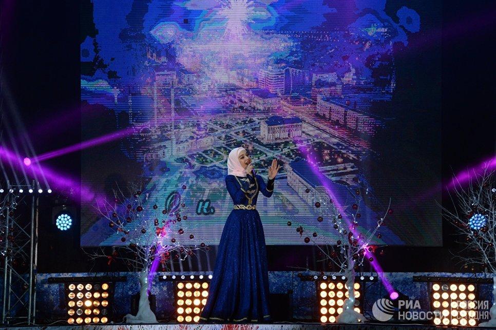 Новогодний концерт мастеров искусств чеченской эстрады в Грозном