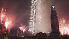 Фейерверк в Бурдж-Халифа в Дубае. Архивное фото