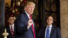 Избранный президент США Дональд Трамп (на переднем плане) и глава аппарата Белого Дома Ринс Прибас. Архивное фото