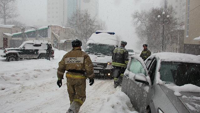 Cотрудники экстренных служб предупреждают граждан Хабаровского края осильной метели