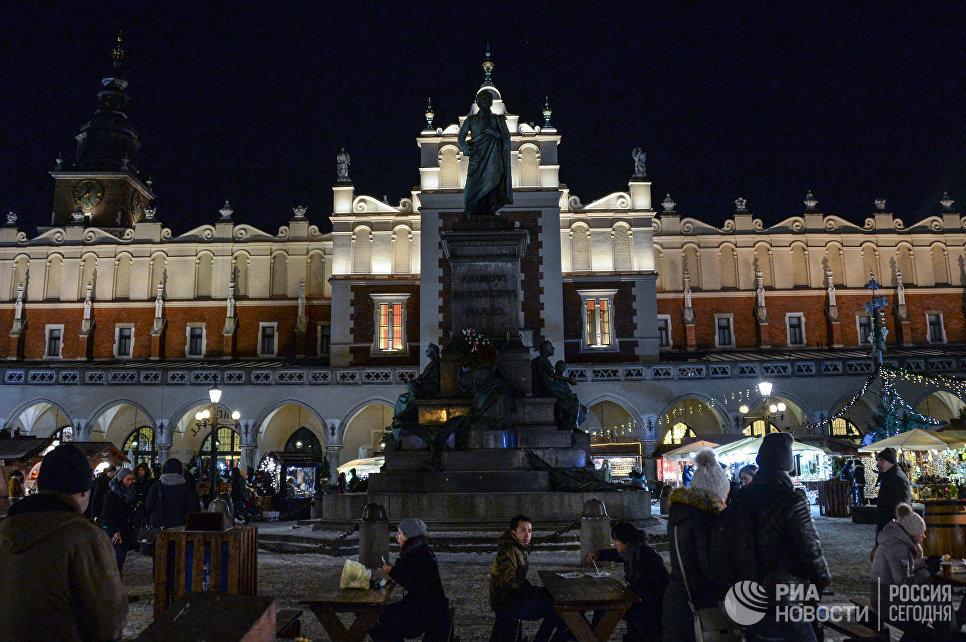 Городская площадь Кракова