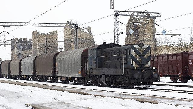 Железнордорожная станция в Сербии. Архивное фото