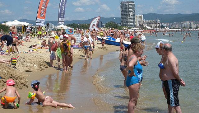 Пляж в районе Солнечного Берега в Болгарии