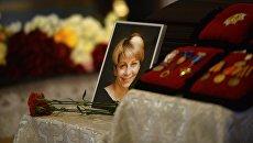 На церемонии прощания с директором Международной общественной организации Справедливая помощь Елизаветой Глинкой, погибшей при крушении самолета Ту-154 в Сочи 25 декабря 2016-го года, в Успенском соборе Новодевичьего монастыря. Архивное фото