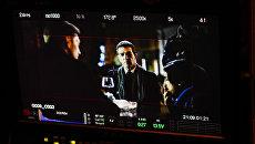 Антонио Бандерас на съемках фильма На грани