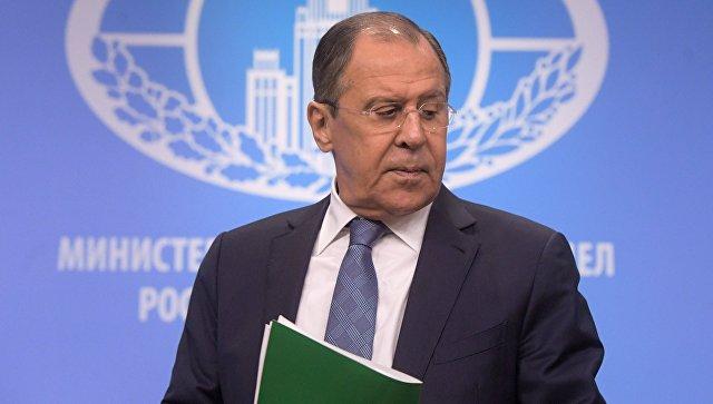 Министр иностранных дел РФ Сергей Лавров на пресс-конференции по итогам деятельности российской дипломатии в 2016 году. 17 января 2017