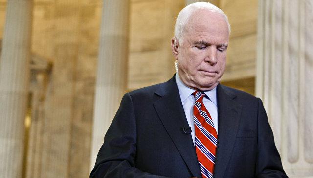 У американского сенатора Джона Маккейна диагностировали опухоль мозга